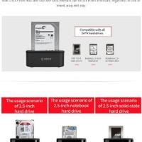 ORICO 6218US3 2.5-3.5 inch HDD atau SSD Hardisk Docking 1 Bay lap