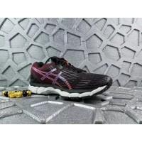 Sepatu Asics Gel Nimbus 17 wanita/pria olahraga sneakers black orange