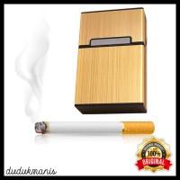 Kotak Bungkus Rokok Elegan Aluminium Tempat Rokok Case Rokok HOB-062