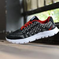 Sepatu Sport Nike Airmax 3D Skin Hitam Merah Running Pria - 3D 02 6d8e22200c