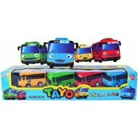 MOBIL TAYO ISI 4PCS PULL BACK - MOBIL LITTLE BUS TAYO - MAINAN ANAK