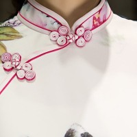 Classic Silk Cheongsam Import White