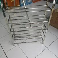 Rak Sepatu Stainless Steel 5 tingkat Khusus JNE