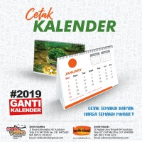 CETAK KALENDER 2019 MURAH BERKUALITAS SURABAYA