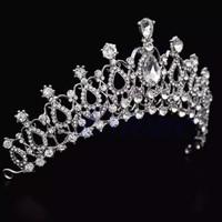 Mahkota Pengantin Kristal hiasan rambut princess crown