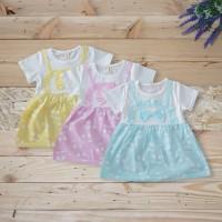 Baju Dress Anak Bayi Perempuan Balita Baru Lahir Katun Import
