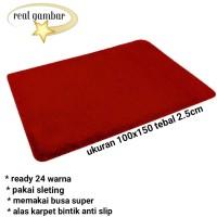 karpet busa kain bulu rasfur ukuran 150x100