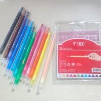 Krayon Puter Twist Crayon Titi Isi 12 Warna Non Toxic