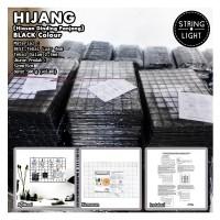 Harga hijang hiasan dinding panjang black wire grid organinizer | antitipu.com