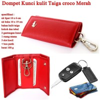 Dompet Mini stnk Croco Taiga RED