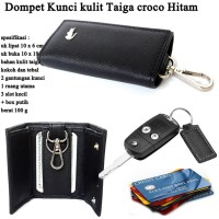 Dompet Mini stnk Croco Taiga BLACK