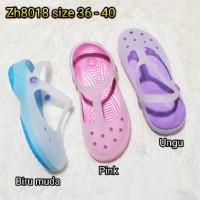 jelly sandal wanita karet bara bara sendal import zh8018