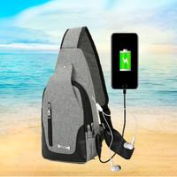 Tas Slempang / Selempang Anti Air Kanvas SPEN USB Sling Bag Canvas