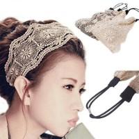 Bando Korea Lebar Brukat Simple Elegan Cantik