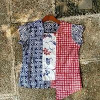 custom design blus batik garutan kombinasi hamdstamped proses wax