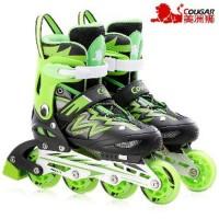 Sepatu Roda COUGAR Inline Skate MZS835L Balck Green Paling Laris 04dfb81d84
