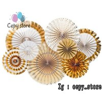 Paper Fan Gold Set / Paperfan / Paper Flower