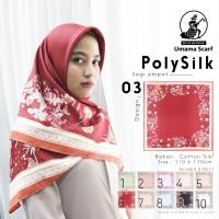 Hijab Segi Empat Umama Motif PolySilk - seri : 03
