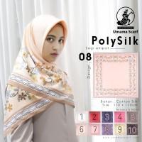 Hijab Segi Empat Umama Motif PolySilk - seri : 08