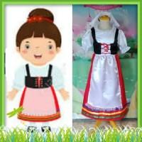 Kostum Putri Baju Tradisional Negara Italy Italia Size 2 - 12 Tahun