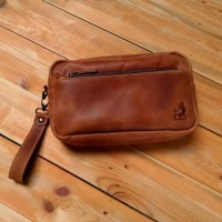 tas tangan pria kulit asli - leather pouch - clutch hand bag aslikulit