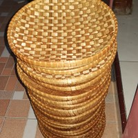 piring bambu ceper 25cm