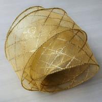 Pita Organdi Gold Transparan; Lebar 6.3cm; Panjang 10yard