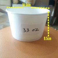 Paper Bowl 33oz isi 1 Liter/Mangkok Kertas ukuran besar/take away bowl