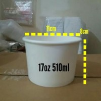 Paper Bowl 17oz 510ml+Lid Bowl/food grade mangkok kertas take away