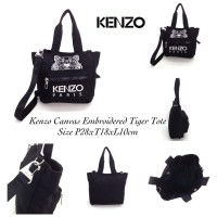 Kenzo Canvas Embroidered Tiger Tote