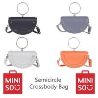 MINISO Semicircle Crossbody Bag Tas Selempang Setengah Lingkaran
