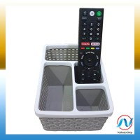 Jual Tempat Remote TV / Remote AC Holder Multifungsi 4 Slot Coklat Murah