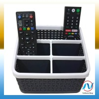 Jual Tempat Remote TV / Remote AC Holder Multifungsi 5 Slot Hitam Murah