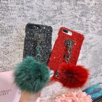 Pom Glitter Diamond Case Samsung Galaxy J7 Pro - Merah