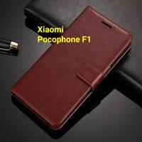 SALE Flip Cover Xiaomi PocoPhone F1 Wallet Leather Case Casing HP VS