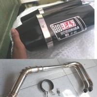 knalpot motor racing yosimura r11 fullsystem stainless ninja mt25 r25