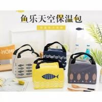 Lunch Cooler Bag Box Tas Tempat Bekal Makan Makanan Anak Kid Ikan Fish