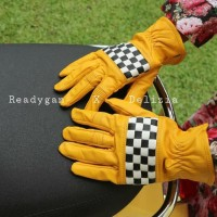 Sarung tangan kulit racing model anyam
