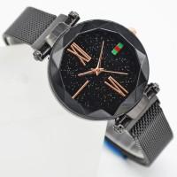 jam tangan wanita keren banget rantai pasir magnet Full Hitam