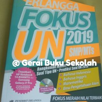 Free Bubble !!! Erlangga FOKUS UN 2019 SMP/MTs + CD UNBK 2019