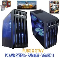 PC GAMING RAKITAN AMD RYZEN 5 2400G PUBG dan GTA V