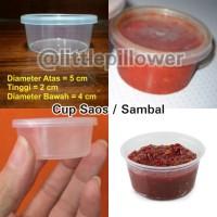 Cup saos sambal plastik/cup sampel 30ml/cup sambel plastik/tempat saos