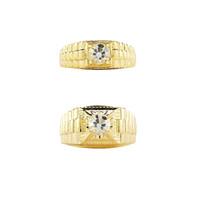 1901 Jewelry Cincin Couple Set 242-243 (Lapis Emas)