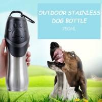 Pet Bottle 750 ML Stainless Steel Dog Drinking Botol Minum Anjing