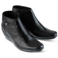 Sepatu Kerja Kantor Formal Pantofel Boot Wanita Cewek Hitam GF.7305 GR