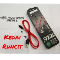 vivan kabel data iphone 5 / 6 ( charger 5S / 5G / 5C / 6+ / ipad air )