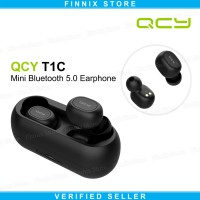 QCY T1C Bluetooth Headset Earphone 5.0 Wireless Earbuds Stereo Bass