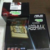 Paket Processor AMD A8 7650K Box & Motherboard Asus A68HM - K