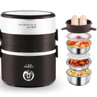 PlayBear Multifunction 3 Layers Electric Lunch Box Rice Cooker 2L