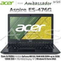 Acer E5-476G Core i3-6006U|MX130 2GB|RAM 8GB|128GB SSD + 1TB HDD|Win10